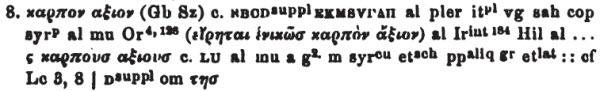 Tischendorf Mt 3:8
