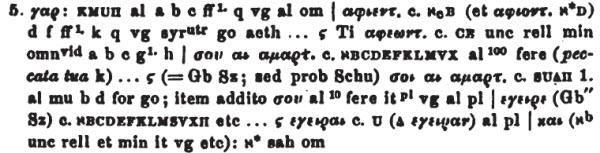 Tischendorf Mt 9:5